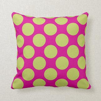 Almofada Luz cor-de-rosa - decoração verde do travesseiro