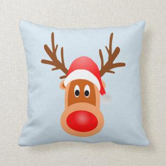 Almofada Luz de Rudolph do travesseiro decorativo do Feliz