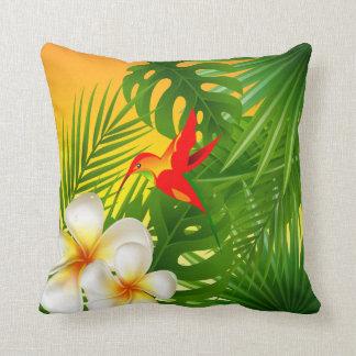 Almofada Luz do sol tropical com um colibri