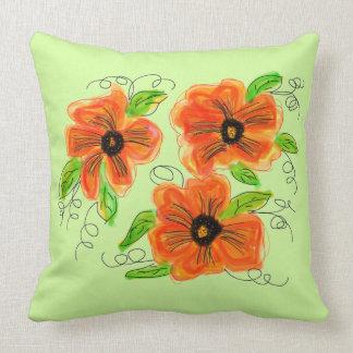 Almofada Luz reversível - esverdeie à azeitona com laranja