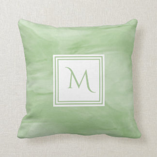 Almofada Luz simples - monograma moderno de mármore subtil