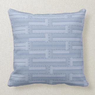 Almofada Luz - travesseiro azul da parede de tijolo