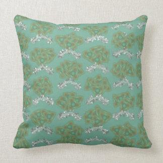Almofada Luz - travesseiro verde do design do vintage