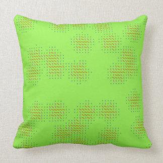 Almofada Luz - verde com o travesseiro preto dos salpicos