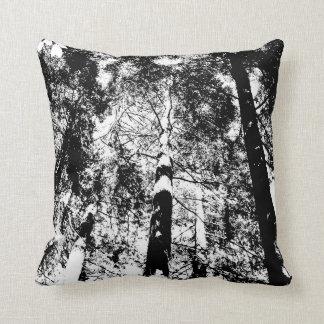 Almofada Madeiras - travesseiro decorativo - branco no