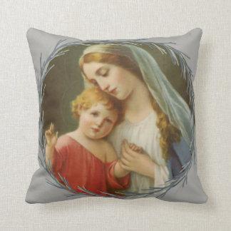 Almofada Mãe abençoada que guardara a grinalda de Jesus do