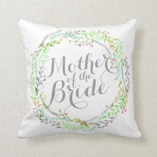 Almofada Mãe do travesseiro do casamento da aguarela da
