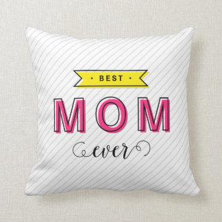 Almofada Mamã amarela cor-de-rosa colorida do divertimento