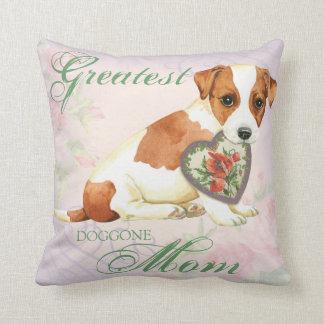 Almofada Mamã do coração de Russell Terrier