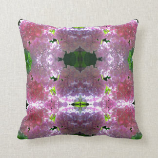 Almofada Mandala cor-de-rosa brilhante do Hydrangea