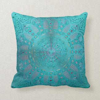 Almofada Mandala do azul de turquesa