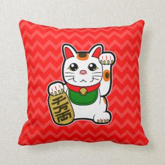 Almofada Maneki Neko: Reversible afortunado japonês do gato