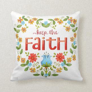 Almofada Mantenha a fé • Travesseiro inspirado