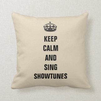 Almofada Mantenha calmo e cante Showtunes