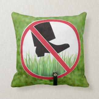 Almofada Mantenha do sinal da grama
