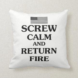 Almofada Mantenha o fogo calmo e do retorno