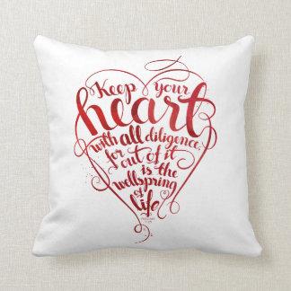 Almofada Mantenha seu coração