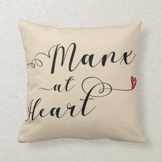 Almofada Manx no coxim do lance do coração, ilha do homem