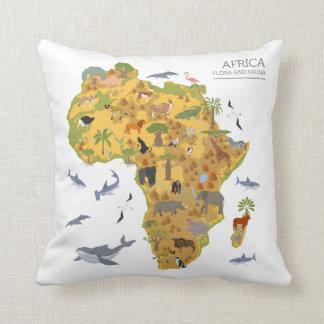 Almofada Mapa da flora & da fauna de África |