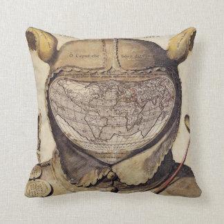 Almofada Mapa do mundo do boné do tolo