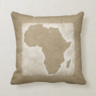 Almofada Mapa do vintage de África