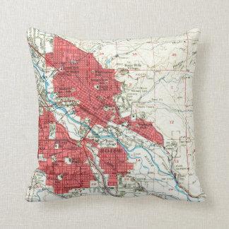 Almofada Mapa do vintage de Boise Idaho (1954)