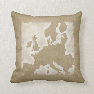 Almofada Mapa do vintage de Europa