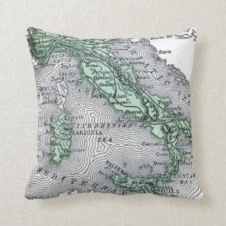 Almofada Mapa do vintage de Italia