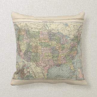 Almofada Mapa histórico - do travesseiro decorativo dos
