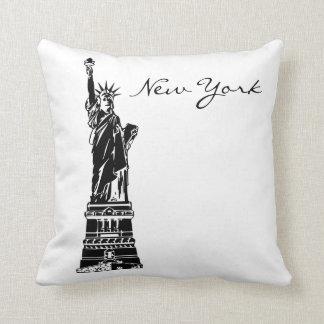 Almofada Marco preto e branco de New York