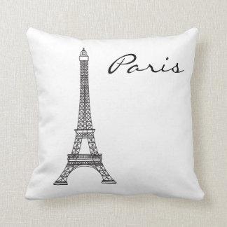 Almofada Marco preto e branco de Paris