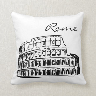 Almofada Marco preto e branco de Roma