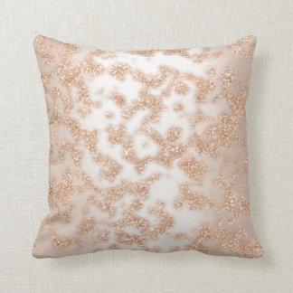 Almofada Marfim Sparkly do ouro cor-de-rosa abstrato do