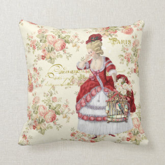 Almofada Marie Antoinette Beige Floral Pillow クッション