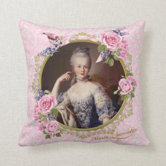 Almofada Marie Antoinette Pink Floral Pillow クッション