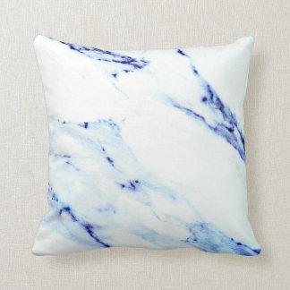 Almofada Mármore azul e branco