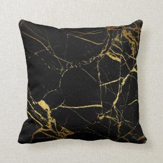 Almofada Mármore preto do ouro - travesseiro decorativo