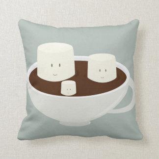 Almofada Marshmallows de sorriso no chocolate quente