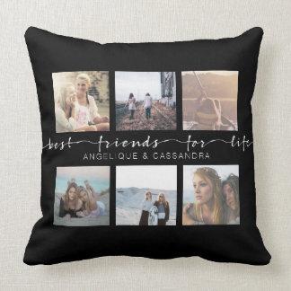 Almofada Melhores amigos para a tipografia da foto de