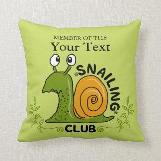 Almofada Membro de clube de Snailing (cor variável do