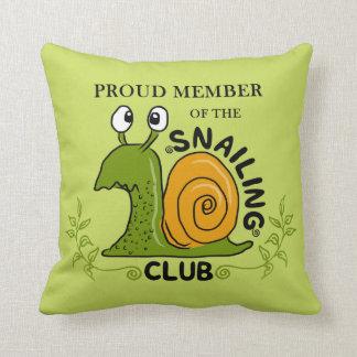Almofada Membro orgulhoso do clube de Snailing