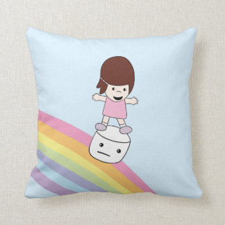 Almofada Menina bonito dos desenhos animados no travesseiro
