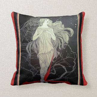 Almofada Menina do art deco & o travesseiro decorativo da