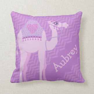 Almofada Meninas roxas nomeadas travesseiro do coxim da