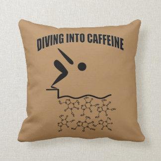 Almofada Mergulho na versão de Brown da cafeína