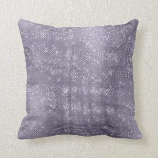 Almofada Metálico cinzento Sparkly mínimo da ameixa roxa de