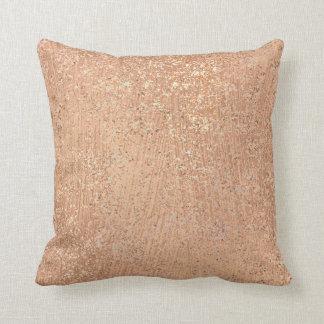 Almofada Metálico cora o cobre Sparkly da composição