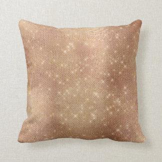 Almofada Metálico Sparkly do rosa de cobre do rosa da
