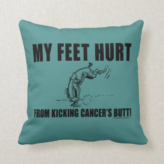 Almofada Meu dano dos pés de retroceder o bumbum do cancer