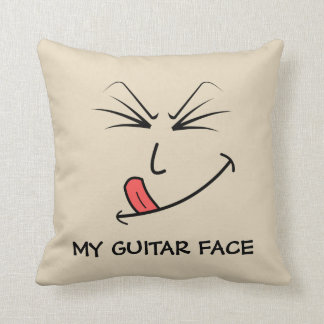 Almofada Minha música da cara da guitarra